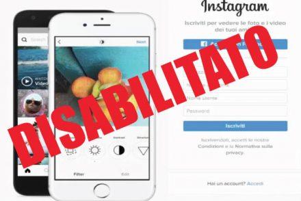 Come disabilitare temporaneamente l'account Instagram