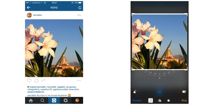 salvare foto da Instagram tramite screenshot