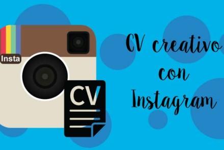 CV creativo e gratis con Instagram