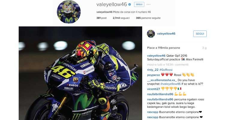 Valentino Rossi Instagram