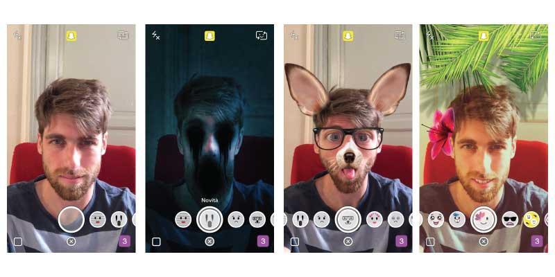 Effetti 3D su Snapchat