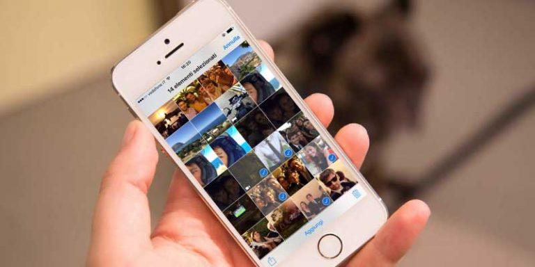 eliminare foto iPhone