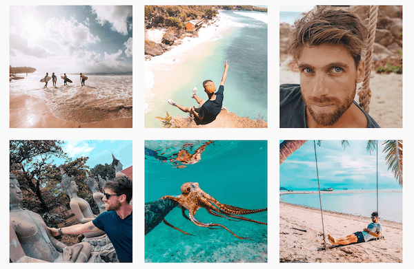Profilo Instagram Blue e Orange