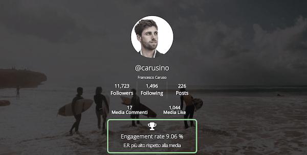 statistiche follower profilo instagram