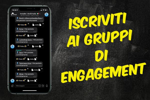 Gruppi Engagement Instagram per Like
