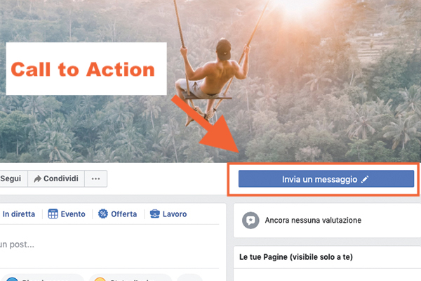 Inserisci call to action pagina facebook